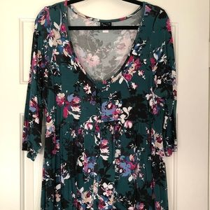 Floral hi low babydoll top